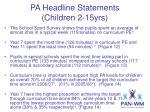 pa headline statements children 2 15yrs6