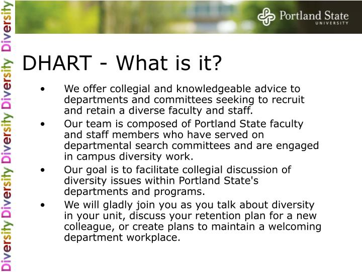 DHART - What is it?