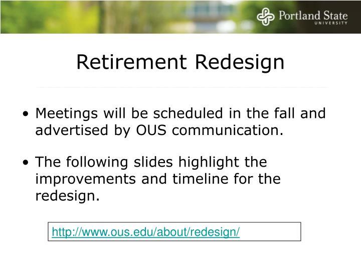 Retirement Redesign