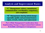 analysis and improvement basics