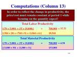 computations column 13