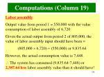 computations column 19