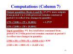 computations column 7