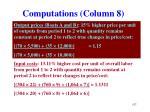 computations column 8