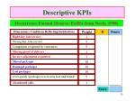 descriptive kpis