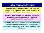 ratio format measures3