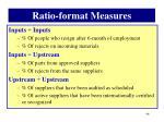 ratio format measures7