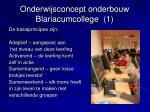 onderwijsconcept onderbouw blariacumcollege 1