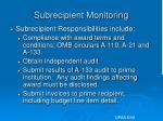 subrecipient monitoring10