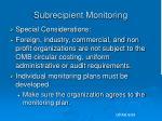 subrecipient monitoring12