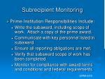 subrecipient monitoring7