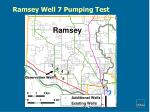 ramsey well 7 pumping test