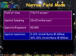 narrow field mode