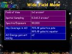 wide field mode