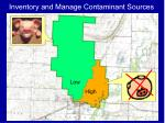 inventory and manage contaminant sources