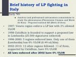 brief history of lp fighting in italy1