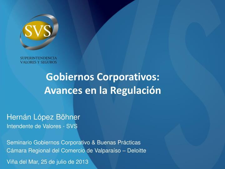 Gobiernos Corporativos: