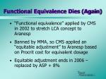 functional equivalence dies again
