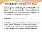 bachillerato internacional
