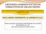 criterios admisi n en ciclos formativos de grado medio