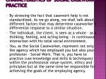 characteristics of social casework practice