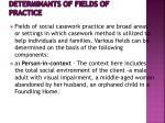 determinants of fields of practice