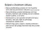 sv ij est o ivotnom ciklusu