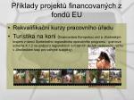 p klady projekt financovan ch z fond eu