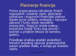planiranje financija