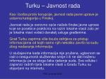 turku javnost rada
