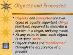 objects and processes