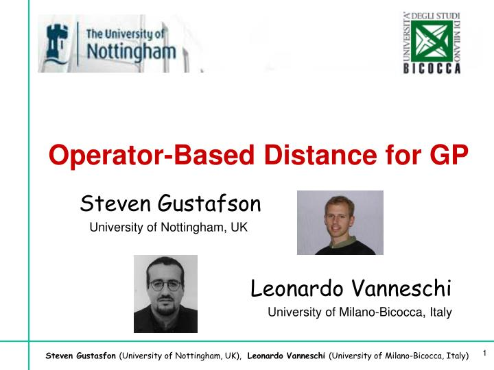 operator based distance for gp n.