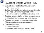 current efforts within psd