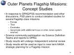 outer planets flagship missions concept studies