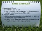bonds continued