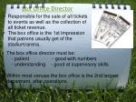 box office director