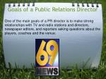 goals of a public relations director