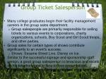group ticket salesperson