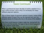 taxes continued