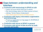 gaps between understanding and interface