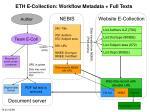 eth e collection workflow metadata full texts