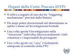 organi della corte procura otp1