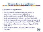 organi della corte registy1