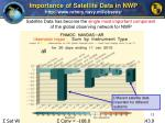 importance of satellite data in nwp http www nrlmry navy mil obsens