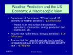 weather prediction and the us economy a macroscopic view