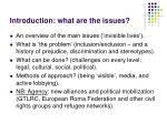 introduction what are the issues