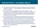 business drivers per stephen mayson