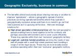geographic exclusivity business in common
