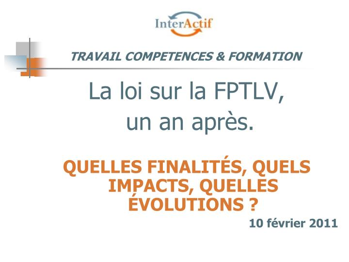 travail competences formation n.