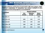 cwa working safety rules during training works1
